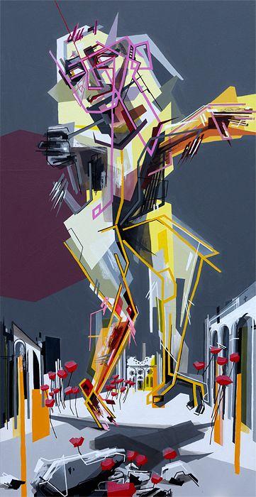 Johanna Creutzburg, Leichtes Flüstern, 2012, 140 x 70 cm, Acryl auf Leinwand aus der Serie: »Mal dies mal jenes sein«