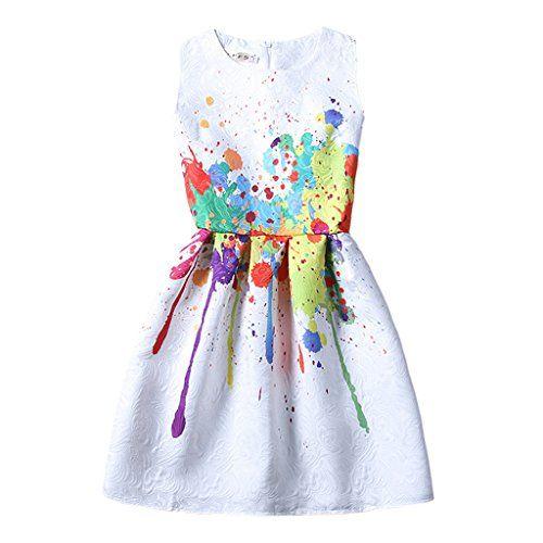 Pretty Rainbow Slim Fit Splicing Sleeveless Dress Summer…