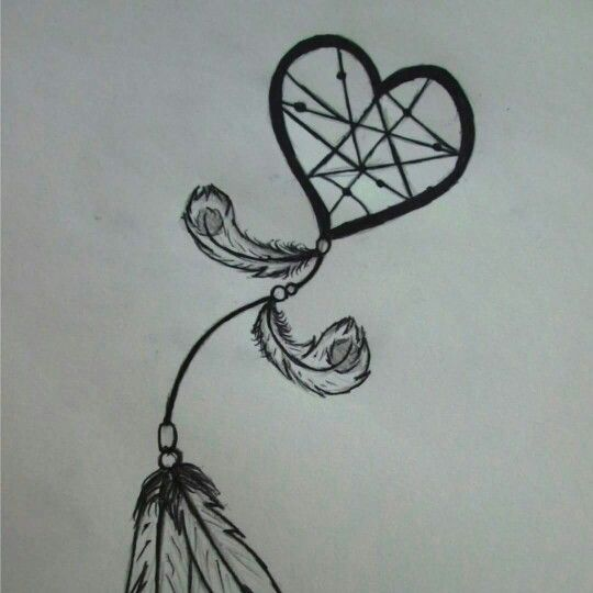 easy dream catcher drawing draw pinterest catcher