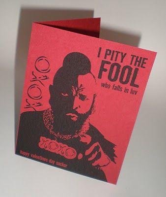 Printable Mr. T Valentine card