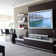 contemporary family room Tailored Sophistication