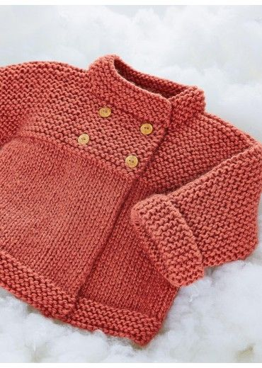 Motifs de manteaux tricot et crochet and manteaux on pinterest - Broderie sur tricot point mousse ...