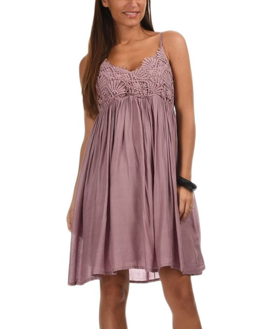 Look at this Parma Lace Empire-Waist Dress on #zulily today!
