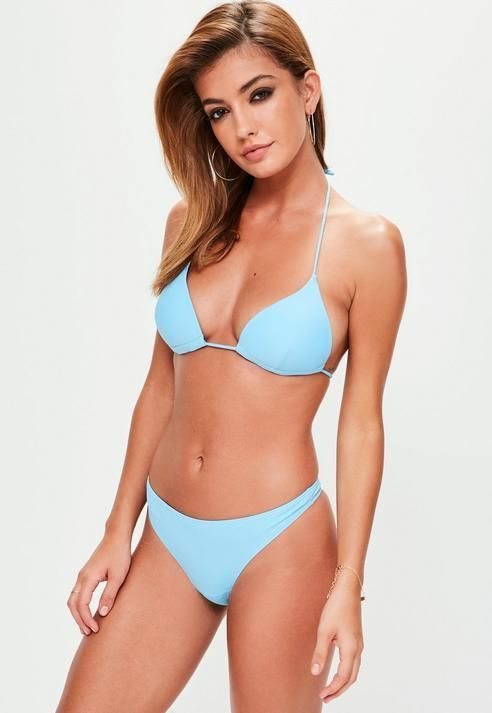 Missguided Blue Moulded Triangle Bikini Top - Mix&Match