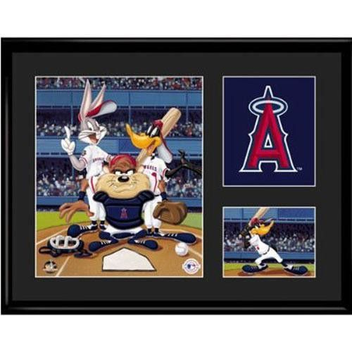 Anaheim Angels MLB Limited Edition Lithograph Featuring The Looney Tunes As Anaheim Angels