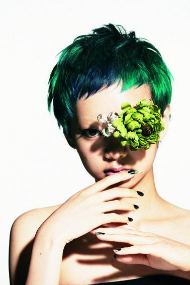 Green pixie _ hairista_sato