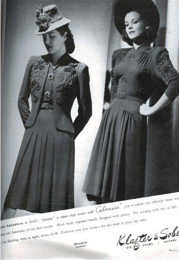 Fashion Flashback Wwii Women S Fashion: Pre-WWII Fall/Winter Fashions Of 1940