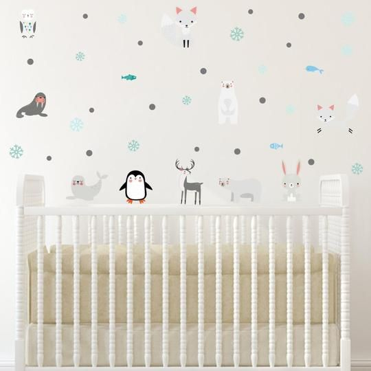 Winter Animals Wall Decals Kids Room Wall Decals Baby Room Wall