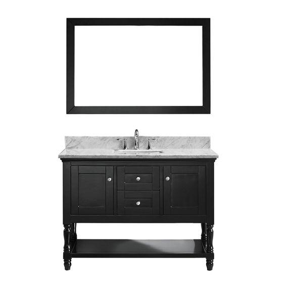 Virtu USA Julianna  48 Inch Single Bathroom Vanity Cabinet Set in Espresso