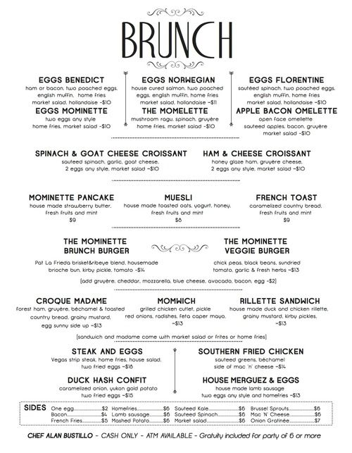 MOMINETTE FRENCH BISTRO \ OYSTER BAR IN BUSHWICK u2022 MOMINETTE - french menu