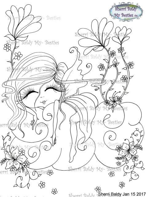 Instant Download My Besties Scan0130 Cloud Hoppers Besties Tm Dolls Digi Stamp Big Eyes Art Coloring Pages Printable Coloring Book