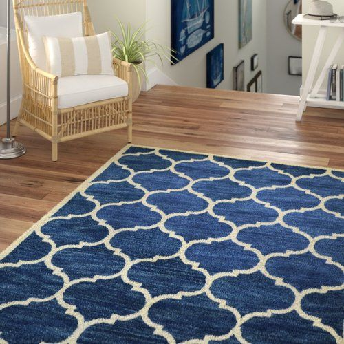Florida Hand Tufted Dark Blue Area Rug