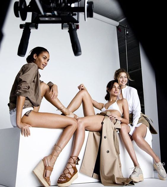 Joan Smalls, Gigi Hafid And Lily Aldridge for Stuart Weitzman 2015
