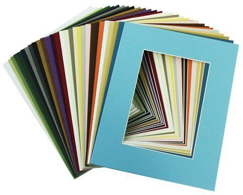 Mat Board Center Crescent Pack Of 25 Sets 11x14 Mixed Colors Mats Matting Pictures Picture Framing Materials Picture Framing Supplies