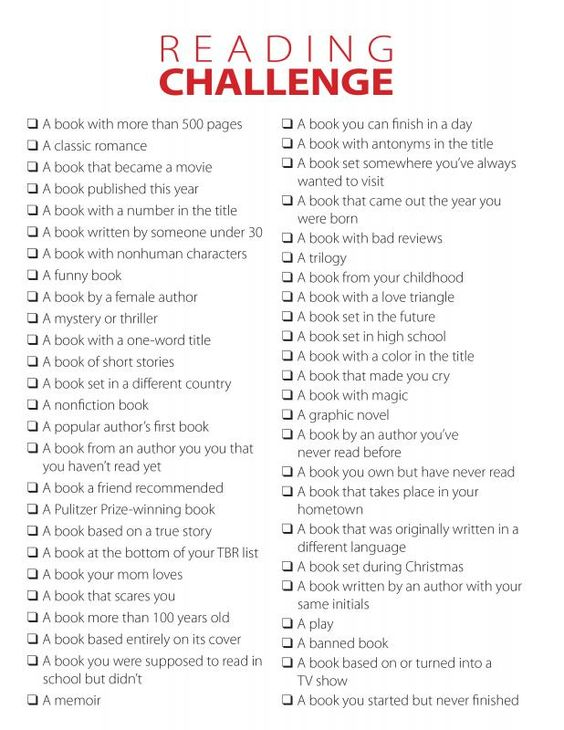 Come and join me in a Reading Challenge for 2015! A friend posted this on Facebook and it sounded like fun to try this year.