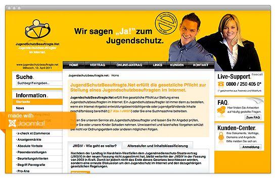 Referenz jugendschutzbeauftragte.net mit Joomla!