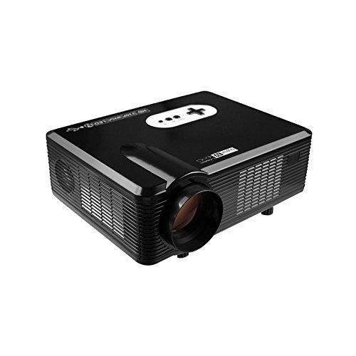 Ezapor HD Projecteur Vidéoprojecteur 3000 Lumens 1280x800 Résolution Vidéo Rétroprojecteur support HDMI USB AV VGA YPbPr Noir