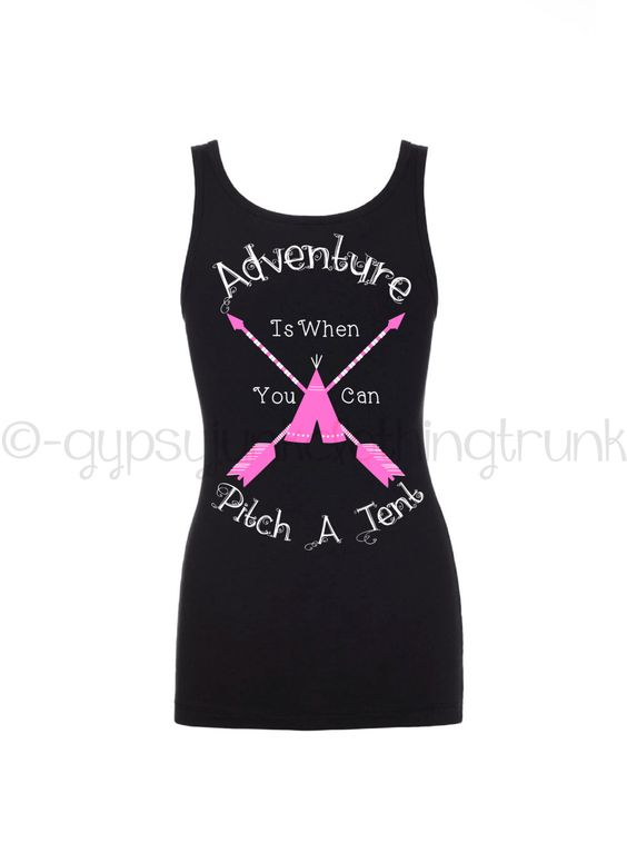 Camping Tank Top - Pink Arrow Shirt - Funny Shirt - Camping Quote Shirt - Tenting Shirt - Camping Tank Top - Funny Quote Tank Top by GypsyJunkClothing on Etsy