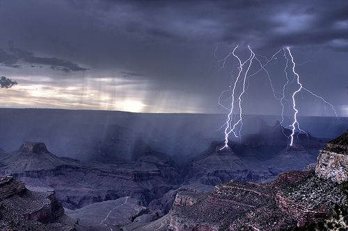 Lightning at Grand Canyon | grand canyon lightning 13 9