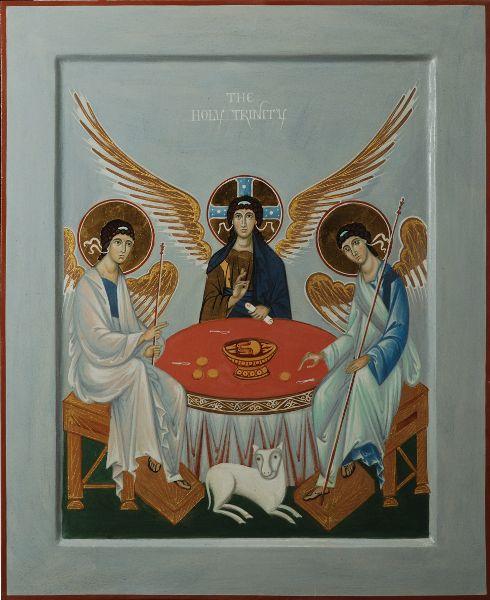 Icon of Holy Trinity. 2013: