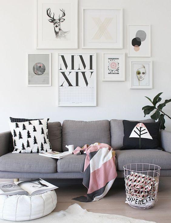 Sofá cinza na decoração 3: