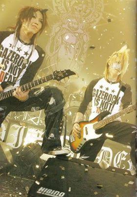 Aoi and Reita. The GazettE