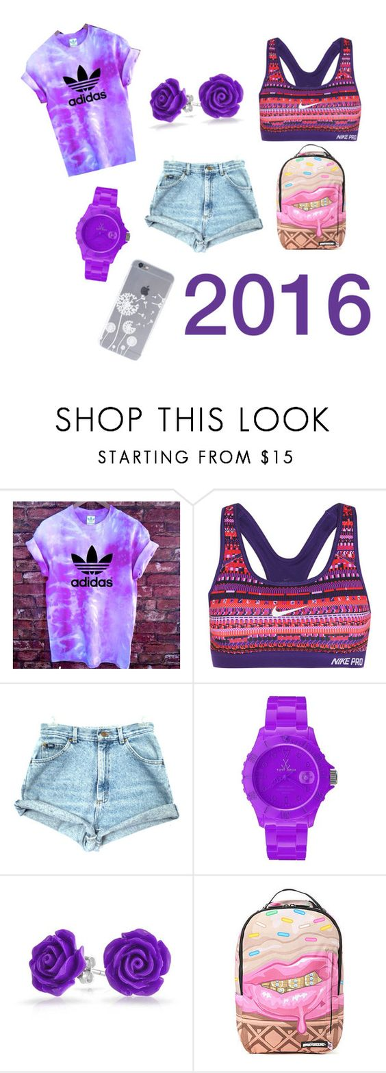 """""""Hello my name is 2016"""" by feedbacker1 ❤ liked on Polyvore featuring NIKE, Toy Watch, Bling Jewelry and Sprayground"""