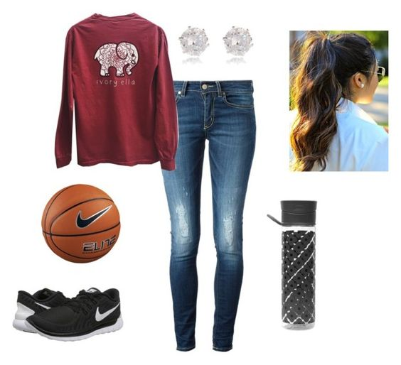 """""""Basketball With Friends"""" by j-murphy-1 ❤ liked on Polyvore featuring Dondup, NIKE, River Island and Orla Kiely"""