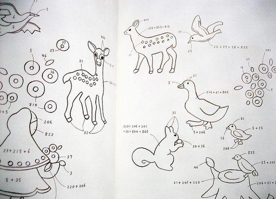 qq motifs à repasser   wool felt embroidery japanese craft book by feltcafe, via Flickr