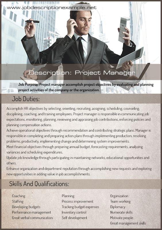 PROJECT MANAGEMENT JOB DESCRIPTION Job description example - management job description