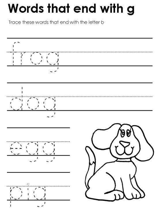 KidZone Preschool and Kindergarten Ending Consonants Worksheets – Kidzone Worksheets Kindergarten