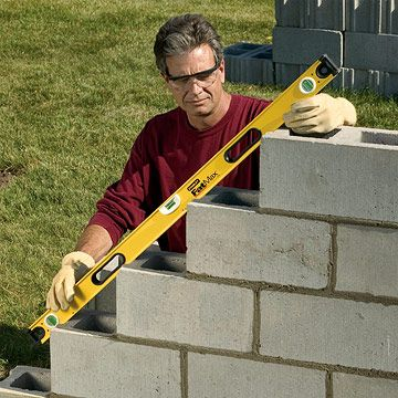 how to build concrete block steps