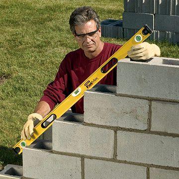 how to build concrete block steps