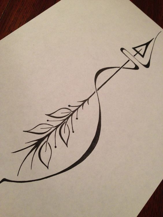 Arrow tattoo meaning: an arrow can only be shot forward by being pulled back. So when life is dragging you back with difficulties, it means that it's going to launch you into something great. So just focus, and keep aiming.