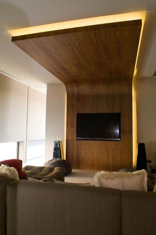 La iluminaci n en los techos modernos ideas para el for Techos salones modernos