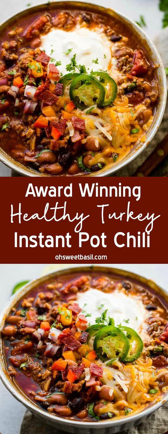 Award Winning Healthy Turkey Instant PotChili