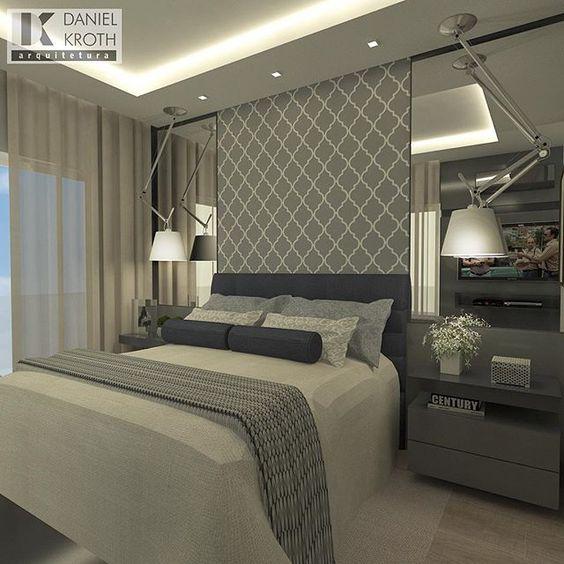 Dormitório do Casal por #DanielKrothArquitetura #dkarquitetura #projeto #dormitorio #dormitoriocasal #moveissobmedida #arquitetura #luxury #decor #arquiteturadeinteriores: