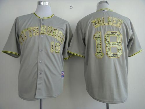 85f1c0855ea ... Pirates 18 Neil Walker Grey USMC Cool Base Embroidered MLB Jersey!21.50USD  Cheap MLB ...