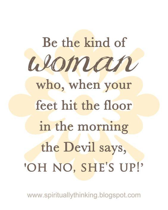 a Godly woman
