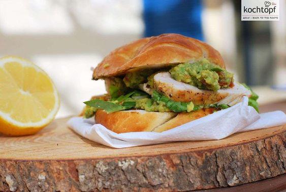 Casual Friday mit REWE Beste Wahl - The Avocado Lemon Chicken-Burger