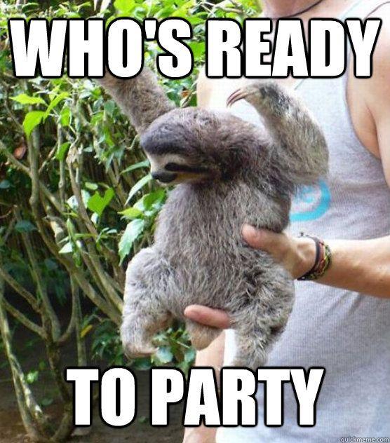"""Sloth Party"""" by Nemki   Redbubble"""