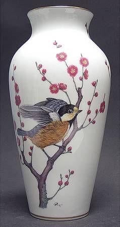 Franklin MintWild Birds-Vase: Chickadee