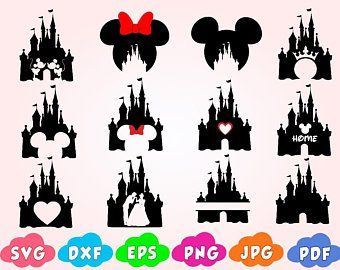 Disney Castlemonograms Svg Files Etsy Disney Tattoos Disney Castle Embroidery Template