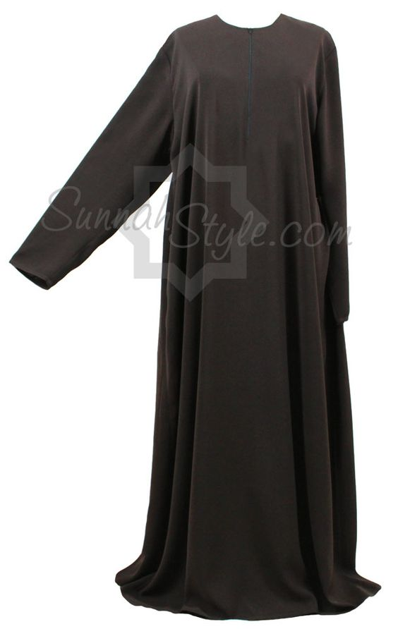 Essential Closed Abaya (Espresso) by Sunnah Style #SunnahStyle #abayastyle #IslamicClothing