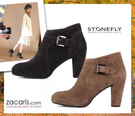 #botines Stonefly, elegancia y sofisticación. Confort garantizado por el sistema Blusoft. Disponibles en dos colores https://www.zacaris.com/articulos/100018031.htm