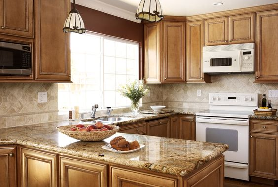 maple cabinets white appliances - Google Search | Remodel ... on Best Countertops For Maple Cabinets  id=32254