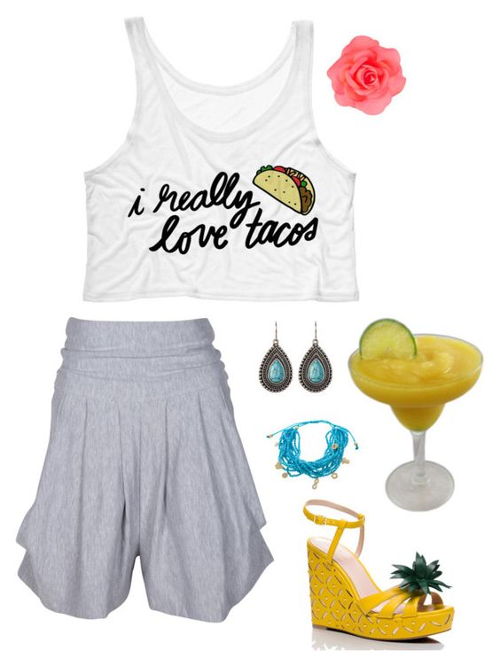 """Perfect Outfit for a Mexican Themed Bash"" by uptownsweats on Polyvore featuring Kate Spade, BillyTheTree, Spring Street, Accessorize, women, mexican, fashionset and uptownsweats"