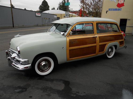 "Want > 1951 Ford ""Woody"" Station Wagon at Memory Lane Motors in Portland."