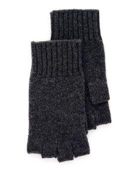 MICHAEL Michael Kors Fingerless Gloves in Black or Derby