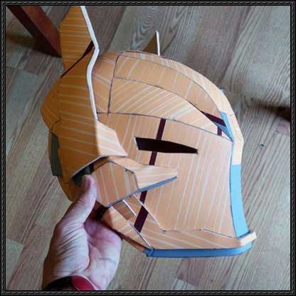 paper knight helmet template - batman arkham knight helmet for cosplay free papercraft